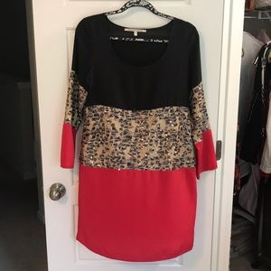 Collective concepts long sleeve cocktail dress